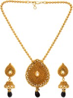 Golden Peacock Alloy Jewel Set(Black) best price on Flipkart @ Rs. 1549