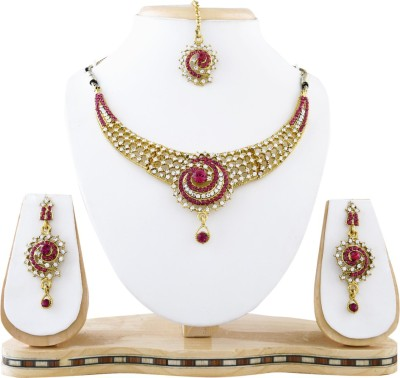 Reeva Fashion Jewellery Alloy Jewel Set(Gold)