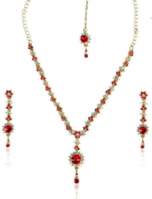 Rashi Jewellery Zinc Jewel Set(Red, White)