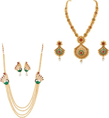 Reeva Fashion Jewellery Copper Jewel Set(Multicolor)