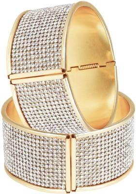Bling N Beads Metal Yellow Gold Bracelet Set