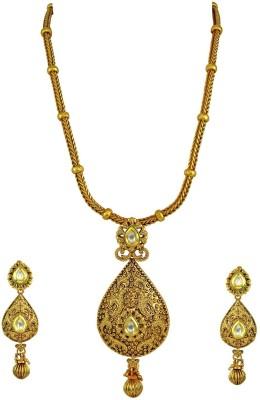 Orniza Brass Jewel Set(White) at flipkart