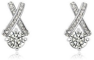 Silver Shoppee Madly In Love Crystal, Cubic Zirconia Alloy Stud Earring