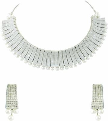 The Art Jewellery Brass Jewel Set(White)