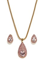 Golden Peacock Alloy Jewel Set(Gold) best price on Flipkart @ Rs. 1699