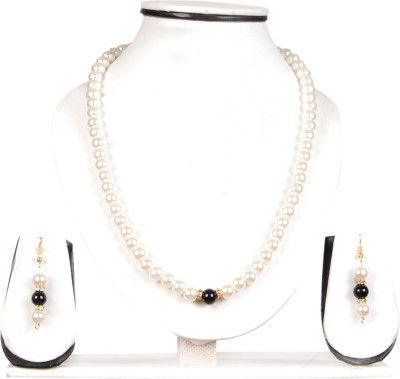FreshMe Fashion Jewellery Mother of Pearl Jewel Set(White, Black)
