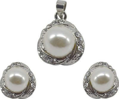 Saloni Fashion Jewellery Copper Jewel Set(White)