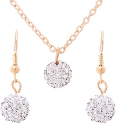 FreshMe Fashion Jewellery Zinc, Alloy Jewel Set(White)