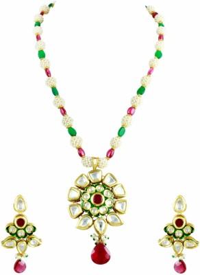 The Art Jewellery Brass Jewel Set(Multicolor)