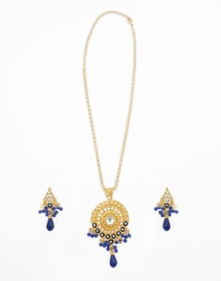 Sia Art Jewellery Alloy Jewel Set(Gold, Blue)