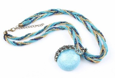 FreshMe Fashion Jewellery Zinc, Alloy Jewel Set(Blue)