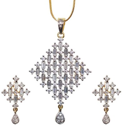 Sheetal Jewellery Brass, Alloy Jewel Set(Silver, Gold)