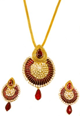 Kaayra Alloy Jewel Set(Maroon, Gold) at flipkart