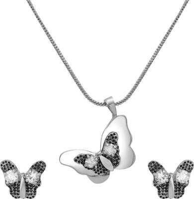 Mahi Alloy Jewel Set(Silver, White) at flipkart