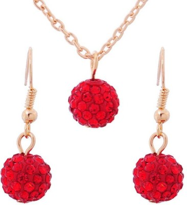 FreshMe Fashion Jewellery Zinc, Alloy Jewel Set(Red)