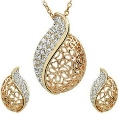 FreshMe Fashion Jewellery Zinc Jewel Set(Gold)