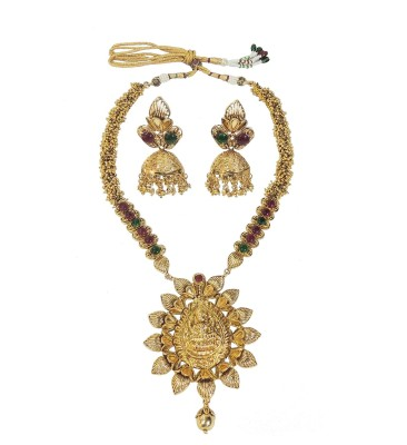 Satyam Jewellery Nx Copper Jewel Set(Red, Green)