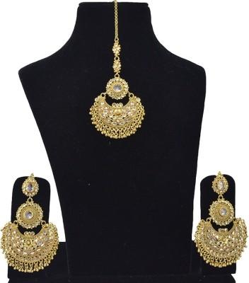 Saloni Fashion Jewellery Copper Jewel Set(Gold)