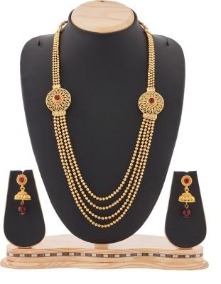 Reeva Fashion Jewellery Zinc Jewel Set(Gold)