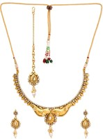 Golden Peacock Alloy Jewel Set(White) best price on Flipkart @ Rs. 1849