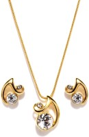 Golden Peacock Alloy Jewel Set(Gold) best price on Flipkart @ Rs. 499