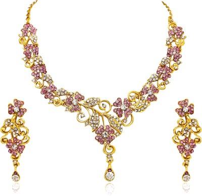 Atasi International Alloy Jewel Set(Pink)