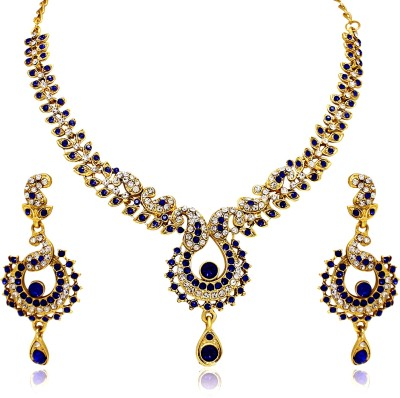 Atasi International Alloy Jewel Set(Blue)