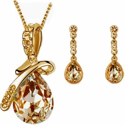 Cyan Alloy Jewel Set(Gold)