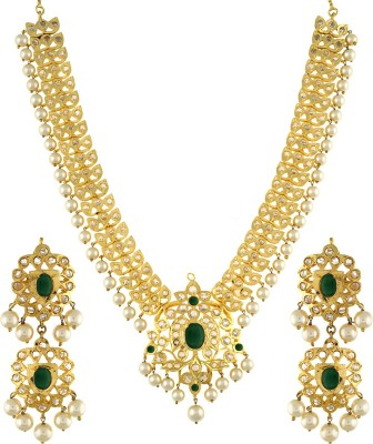 Chaahat Fashion Jewellery Copper Jewel Set(Gold)