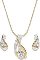 Golden Peacock Alloy Jewel Set(White) best price on Flipkart @ Rs. 999