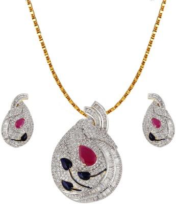 Heena Jewellery Alloy, Brass Jewel Set