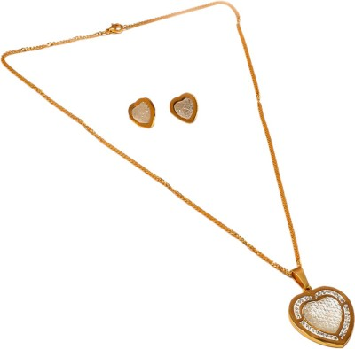 Sanaa Creations Alloy Jewel Set(Gold) at flipkart