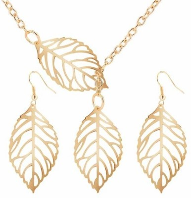 FreshMe Fashion Jewellery Zinc, Alloy Jewel Set(Gold)
