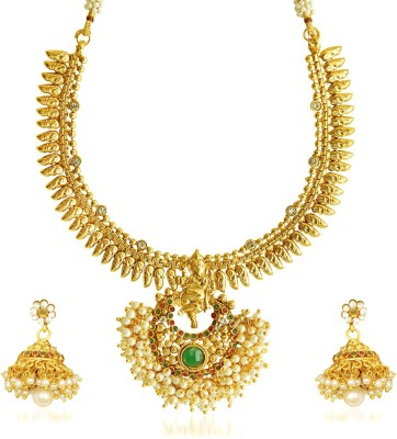 Reeva Fashion Jewellery Copper Jewel Set(Multicolor)