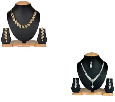 Rashi Jewellery Alloy Jewel Set(Gold, White)