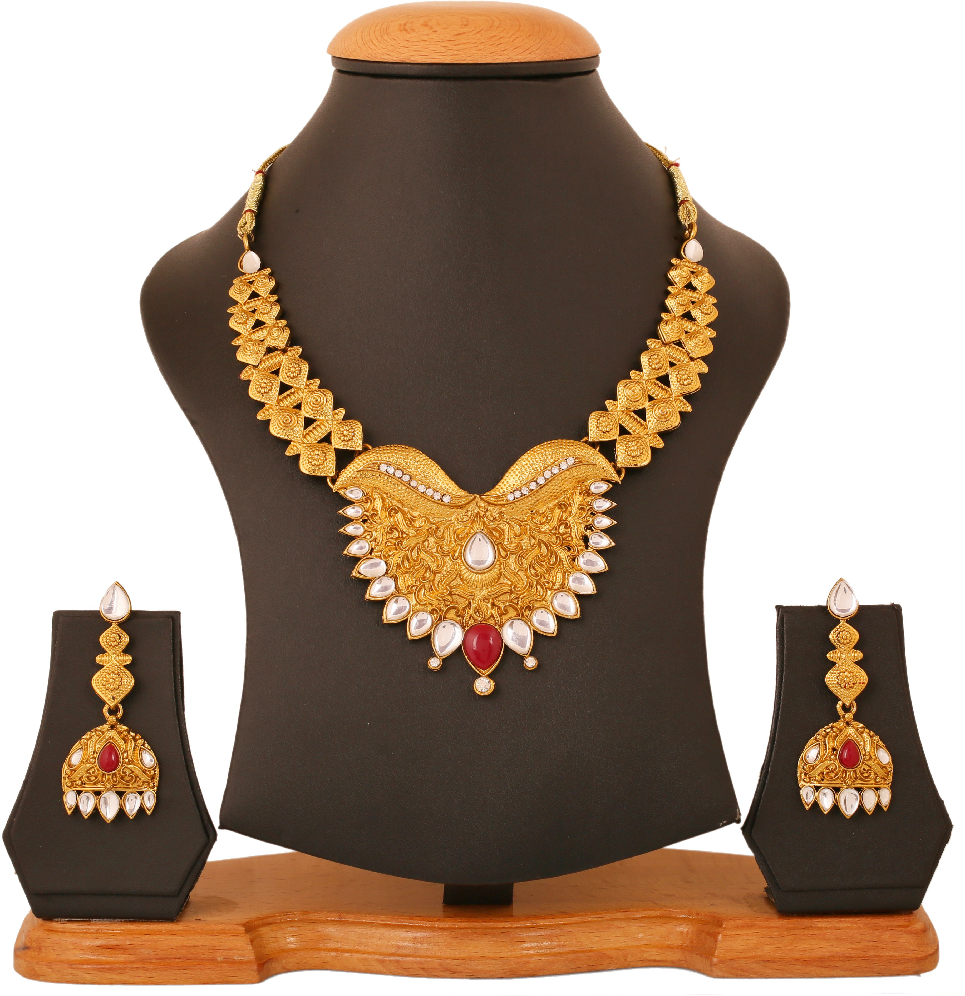 ac57ac067 Touchstone Alloy Jewel Set(Red, White) was ₹1499 now ₹419