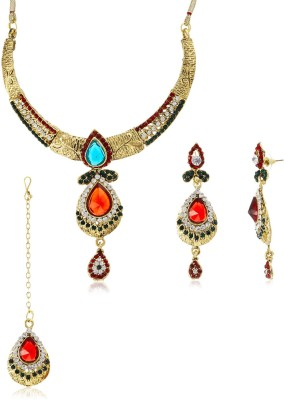 Sia Art Jewellery Alloy Jewel Set(Gold)