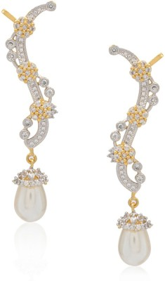 Jewels Galaxy Hand Crafted American Diamond1131 Alloy Drop Earring