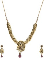 Golden Peacock Alloy Jewel Set(Pink) best price on Flipkart @ Rs. 1399