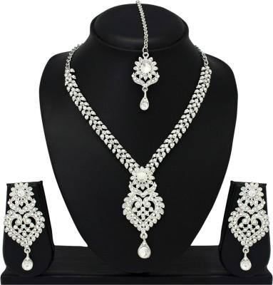 Atasi International Alloy Jewel Set(Silver) at flipkart