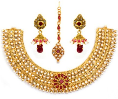 Nainika's Fashion Jewellers Pvt. Ltd. Alloy Jewel Set