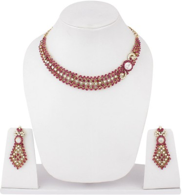 Styylo Fashion Alloy Jewel Set(Pink) at flipkart