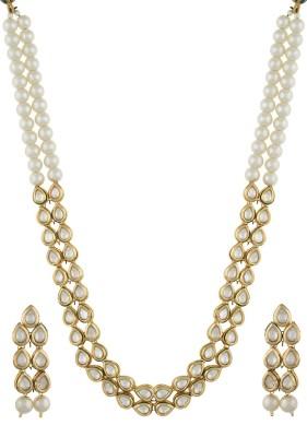 Chaahat Fashion Jewellery Alloy Jewel Set(White)