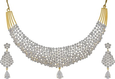 Chaahat Fashion Jewellery Copper Jewel Set(Silver)