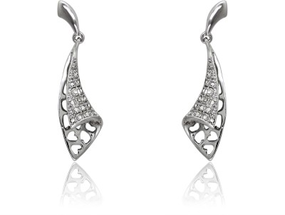 Mahi Floral Bell Crystal Brass, Alloy Drop Earring