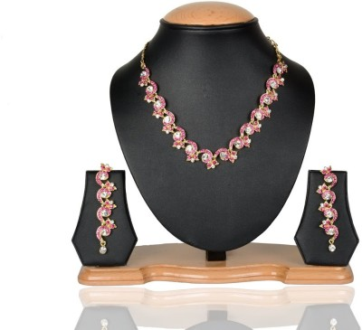 Rashi Jewellery Alloy Jewel Set(Pink)