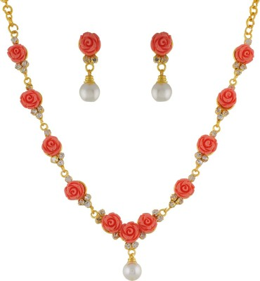 FreshMe Fashion Jewellery Alloy Jewel Set(Orange)
