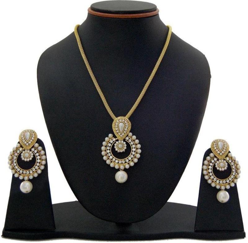Fashion World Alloy Jewel Set(Gold)