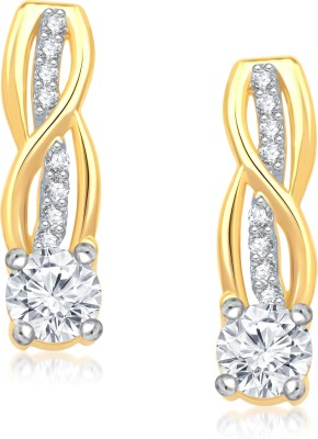 VK Jewels Luminous Solitaire Cubic Zirconia Alloy Stud Earring