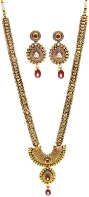 Satyam Jewellery Nx Copper Jewel Set(Red)